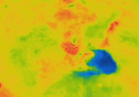 Thermal picture of possible well location