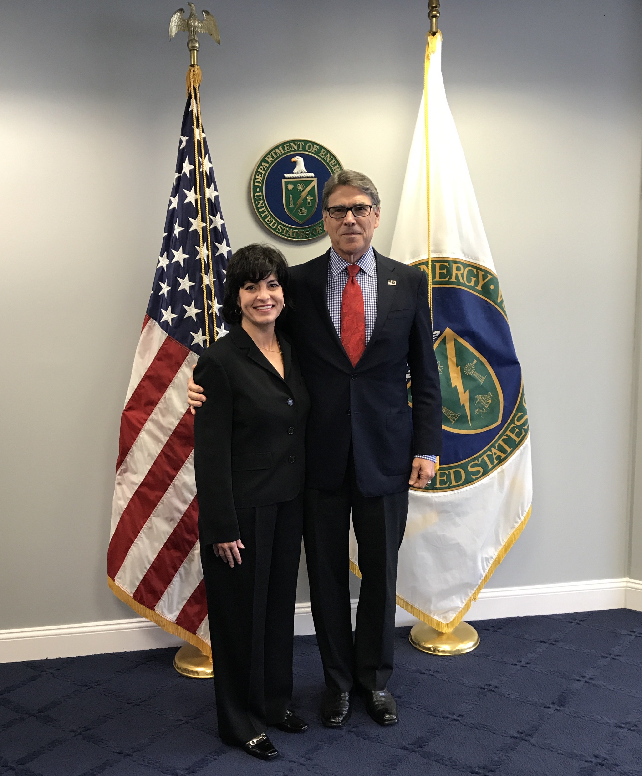 Christi Craddick and Rick Perry